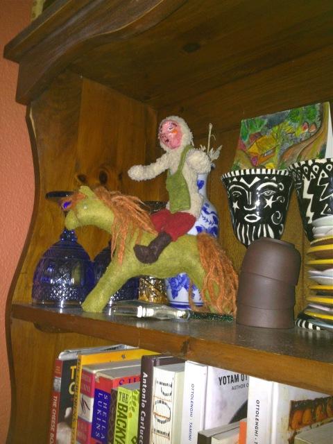 january, handmade puppet, handmade felt horse